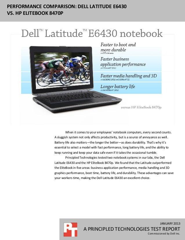 Performance comparison: Dell Latitude E6430 v. HP 8470p