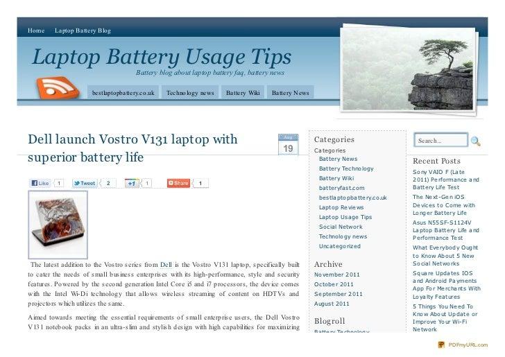 Home      Laptop Battery Blog Laptop Battery Usage Tips                                      Battery blog about laptop bat...