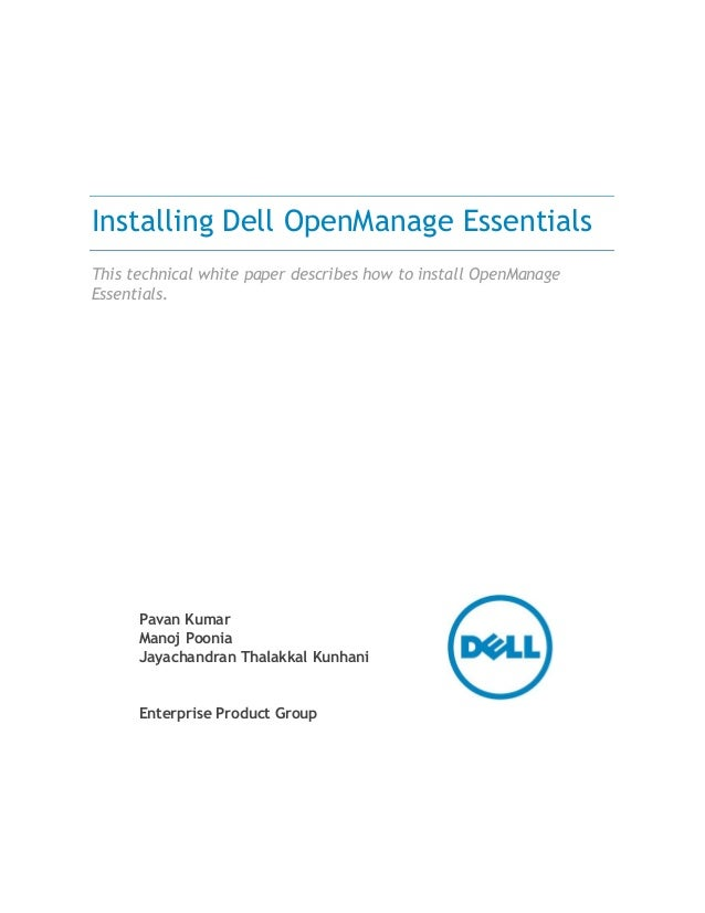 Dell open manage essentials install