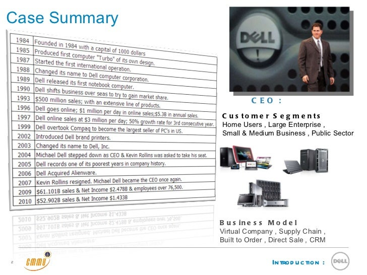 dell computer corporation case study solution