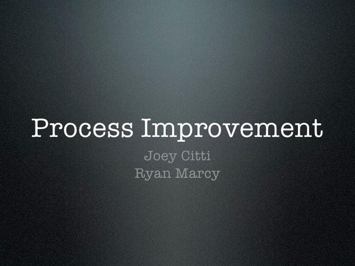 Dell Process Improvement
