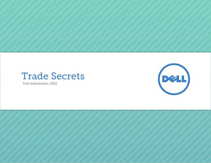 Dell Trade Secrets - How to make a great first impression