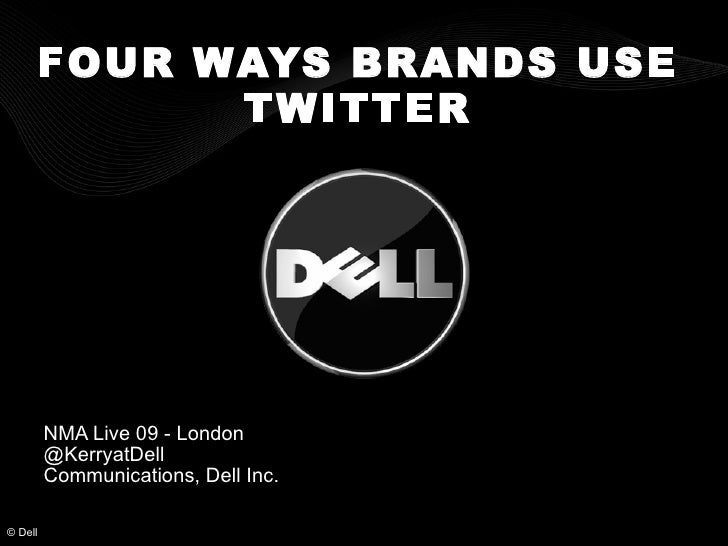 Four ways brands use Twitter