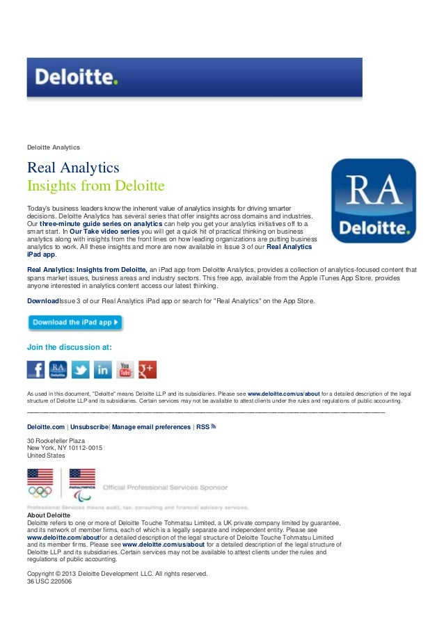 Deloitte analytics