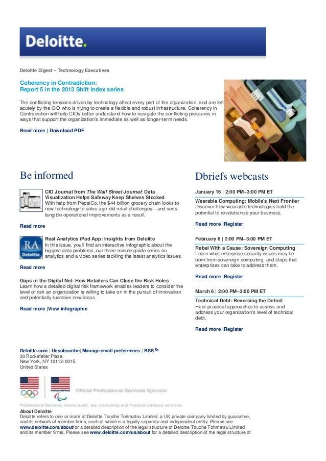Deloitte digest Technology Executives