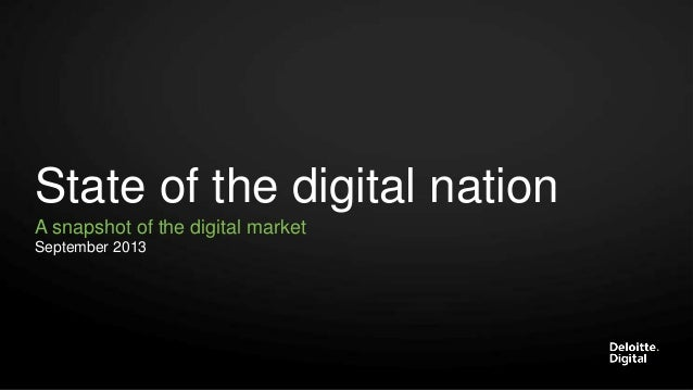 Deloitte Digital NL - State of the digital nation