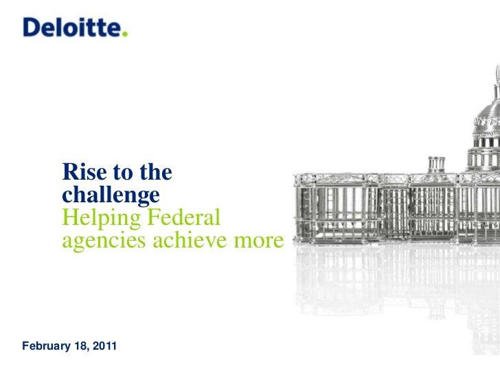 Deloitte gov federal practice