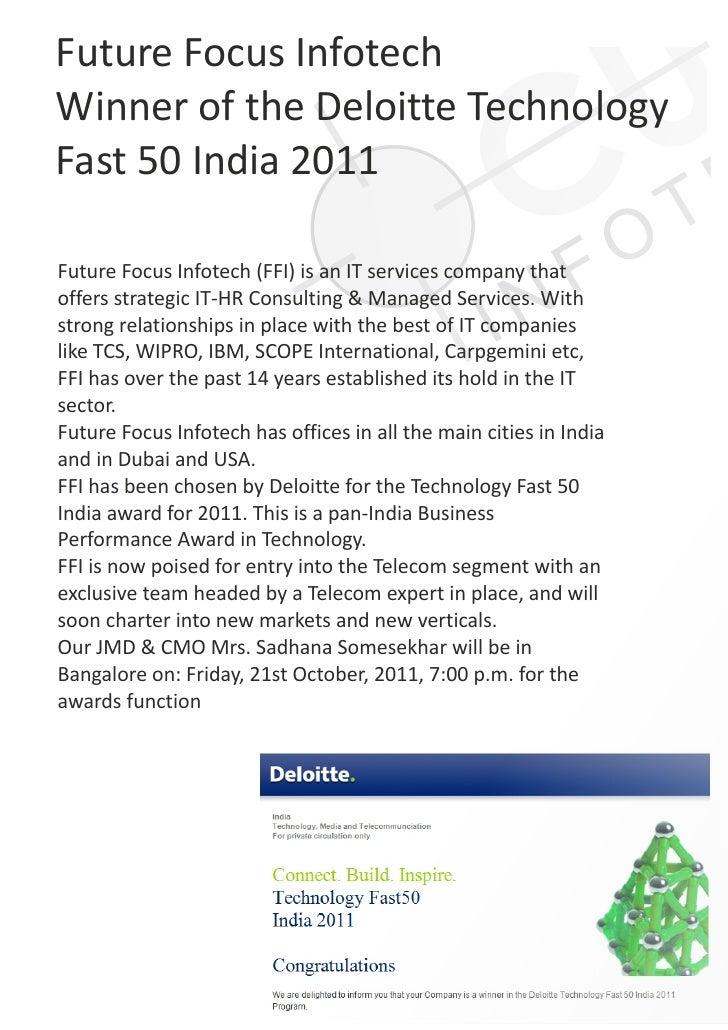 Deloitte press release