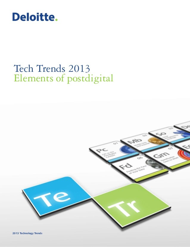 Deloitte Tech Trends 2013