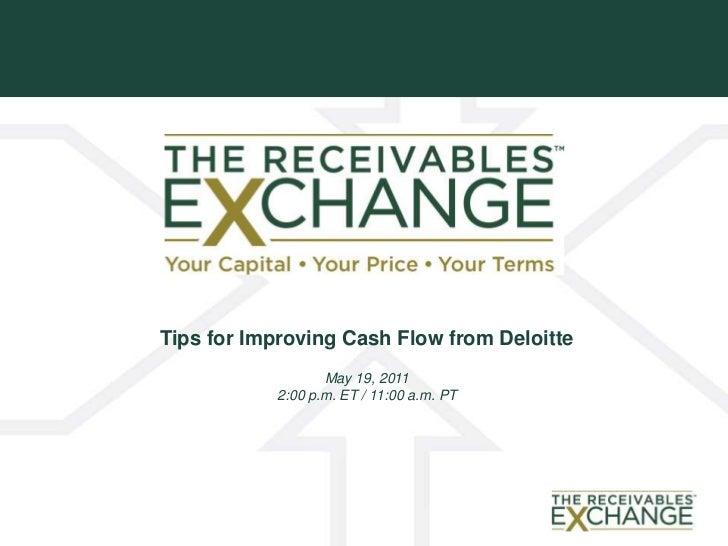 Tips for Improving Cash Flow from Deloitt