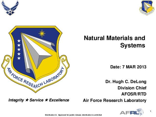 DeLong - Natural Materials and Systems - Spring Review 2013