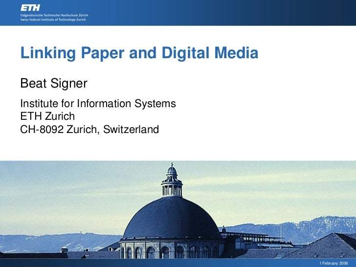 Linking Paper and Digital Media