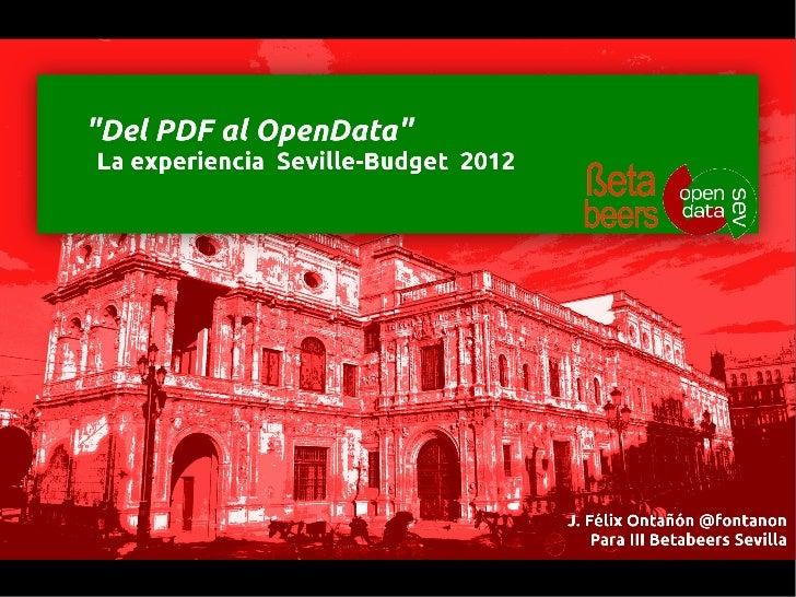 Opendata desde ficheros PDF