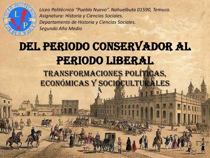 """Liceo Politécnico """"Pueblo Nuevo"""". Nahuelbuta 01590, Temuco.   Asignatura: Historia y Ciencias Sociales.   Departamento de ..."""