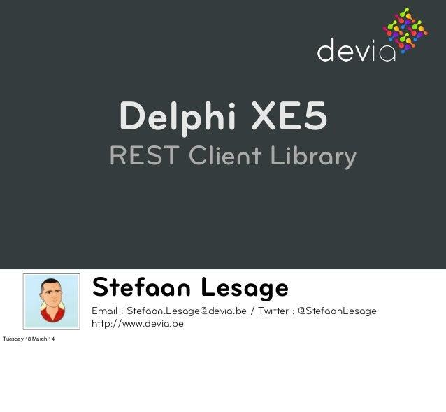 Delphi XE5 REST Client Library