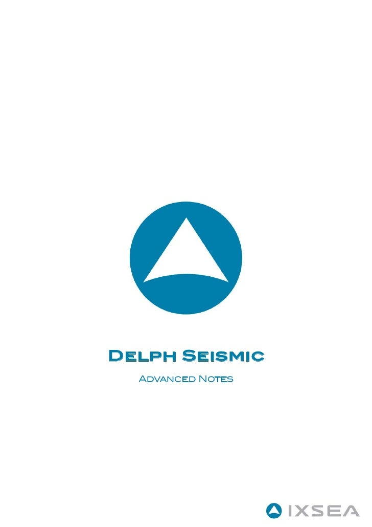 DELPH Seismic Advanced Notes