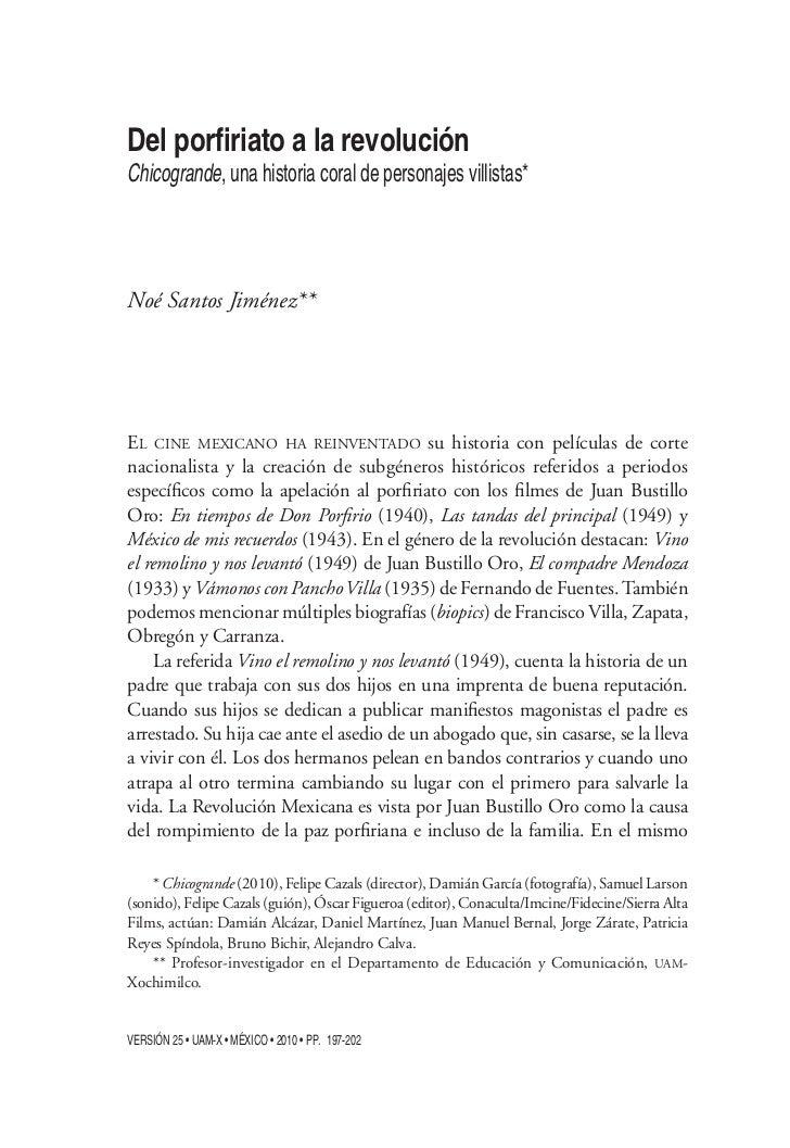 Chicogrande, una historia coral de personajes villistas*Noé Santos Jiménez**EL CINE MEXICANO HA REINVENTADO su historia co...