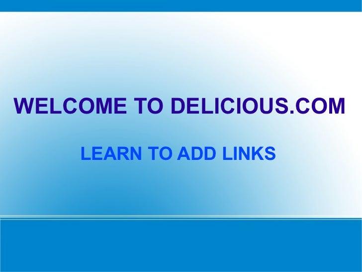 Delcious.com