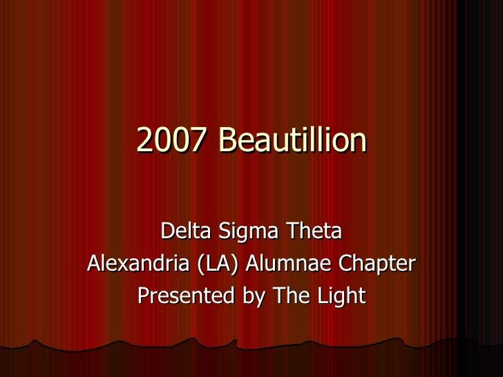 Delta Sigma Theta Beautillion
