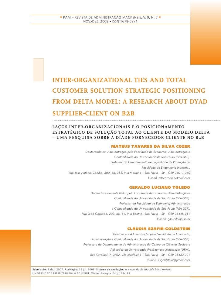 • RAM – REVISTA DE ADMINISTRAÇÃO MACKENZIE, V. 9, N. 7 •                                        NOV./DEZ. 2008 • ISSN 1678...