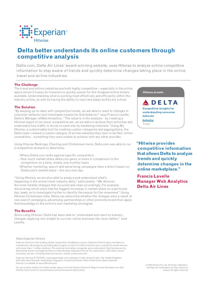 exploring marketing with delta airlines as a case study essay Open document below is an essay on delta airline from anti essays, your source for research papers, essays, and term paper examples.
