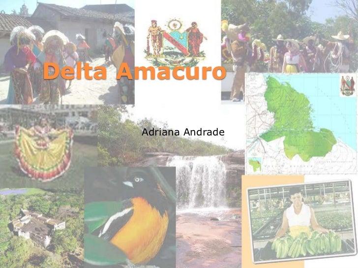 Delta Amacuro<br />Adriana Andrade<br />