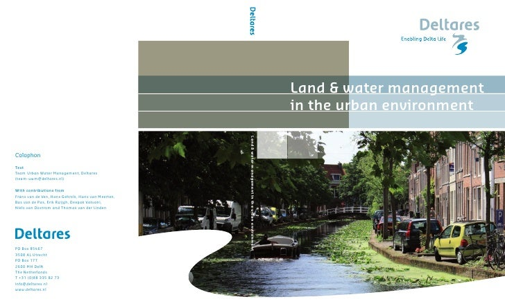 Deltares land & water management in the urban environment 2009