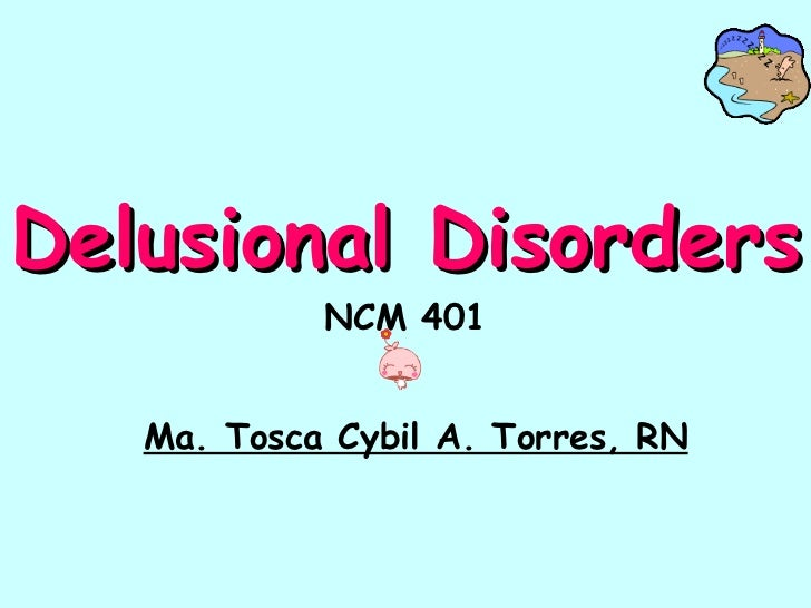 delusional disorders 2006-11-02 delusional disorder, once termed paranoia, was an important diagnosis in the late nineteenth and early twentieth centuries only in 1987 was it reintroduced into modern psychiatric diagnosis after being incorporated with.