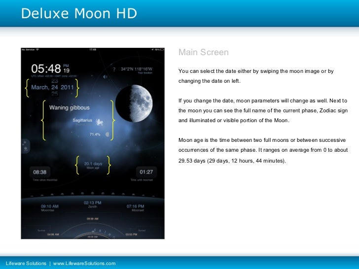Deluxe Moon HD - User Guide for iPad