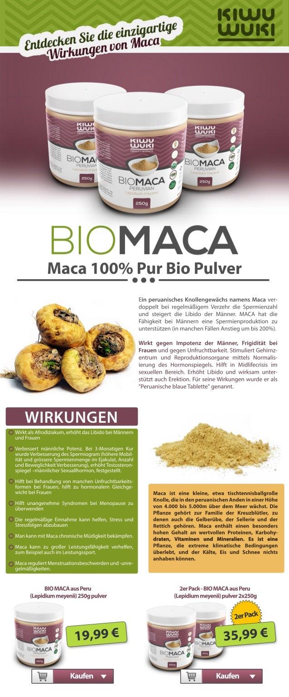 Maca100%PurBioPulver EinperuanischesKnollengewächsnamensMacaver- doppeltbeiregelmäßigem VerzehrdieSpermienzahl undsteigert...
