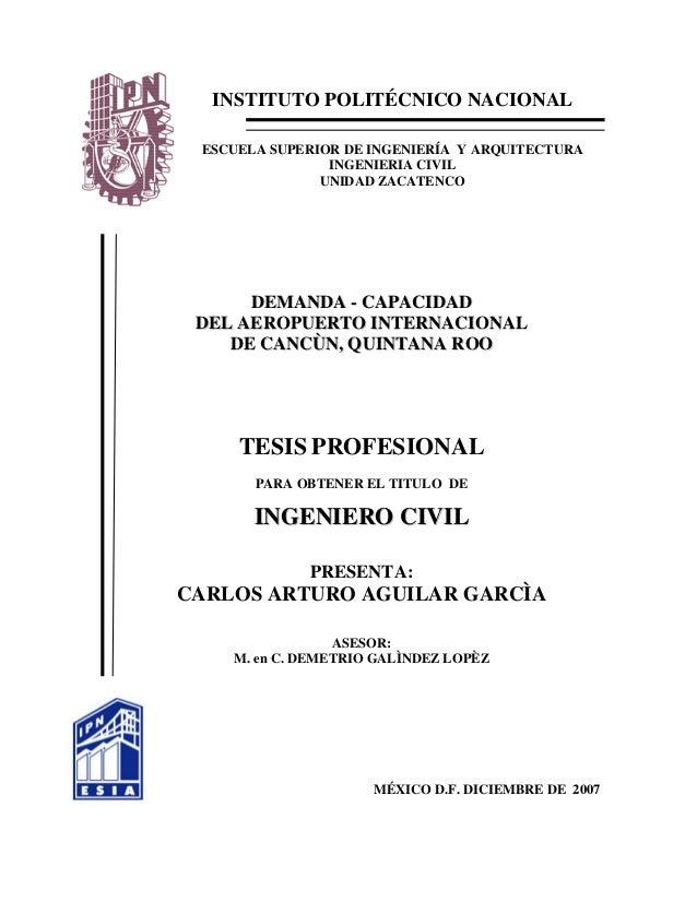 INSTITUTO POLITÉCNICO NACIONAL ESCUELA SUPERIOR DE INGENIERÍA Y ARQUITECTURA INGENIERIA CIVIL UNIDAD ZACATENCO DDEEMMAANND...