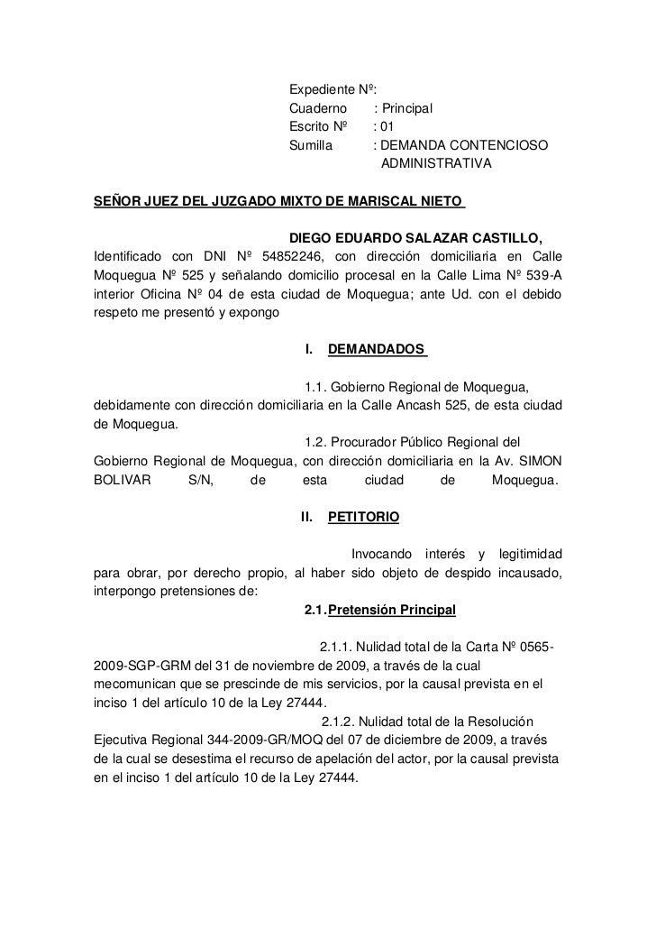 Demanda contenciosa administrativa de reposicion