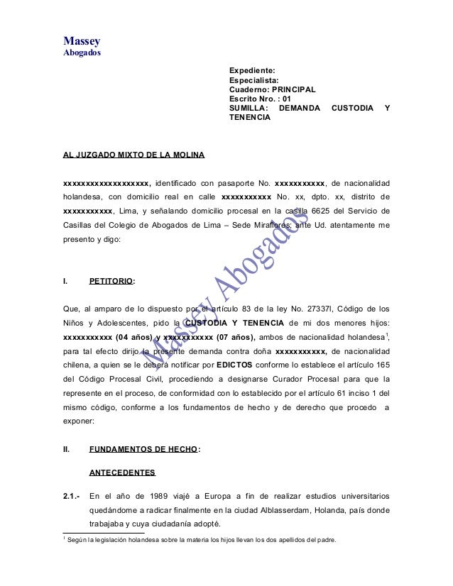 MasseyAbogados                                                           Expediente:                                      ...