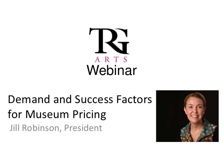 TRG Webinar: Demand and Success Factors for Museum Pricing