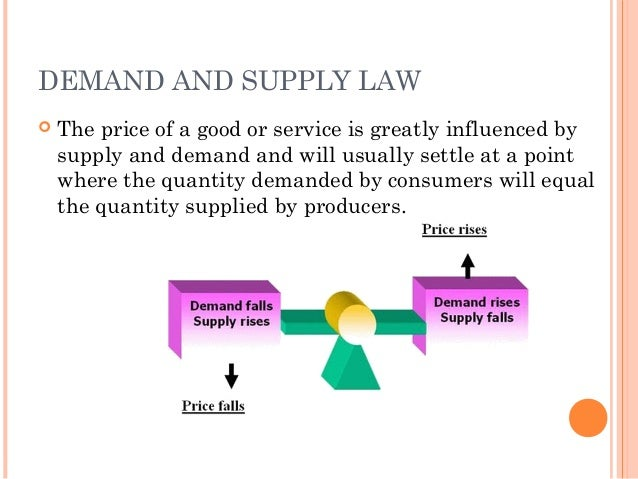 laws of supply and demand and Law of demand law of demand -- ceteris paribus, the quantity of a good demanded (qd) rises supply falls supply and demand market -- an abstract concept that encompasses the trading arrangements of buyers and sellers that underlie the forces of supply and demand.