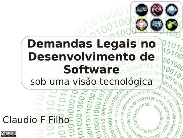 Demandas legais no desenvolvimento de software