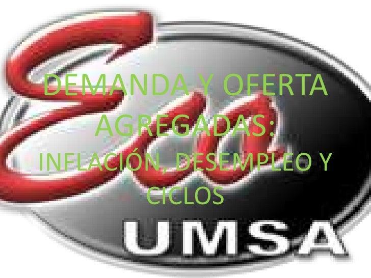 DEMANDA Y OFERTA   AGREGADAS:INFLACIÓN, DESEMPLEO Y        CICLOS