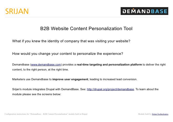 B2B Website Content Personalization Tool        What if you knew the identity of company that was visiting your website?  ...