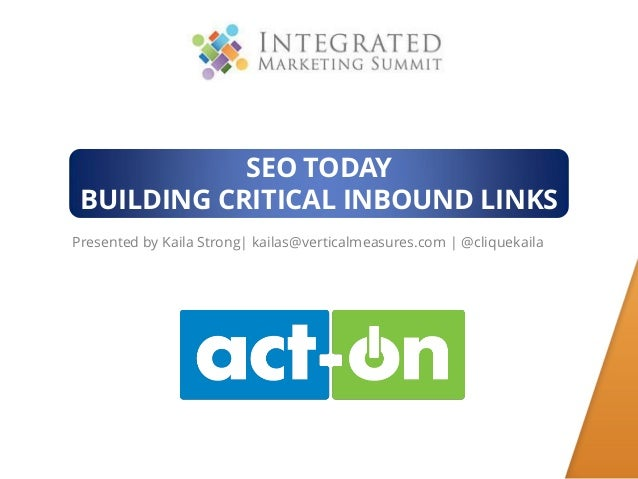 SEO Today Building Critical Inbound Links
