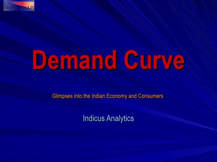 Demand Curve Glimpses into the Indian Economy and Consumers  Indicus  Analytics