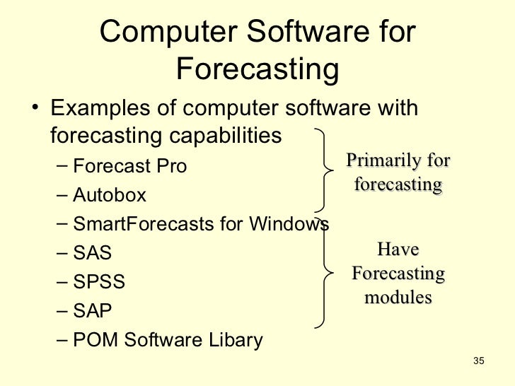 Demand Forecasting Examples For Forecasting• Examples