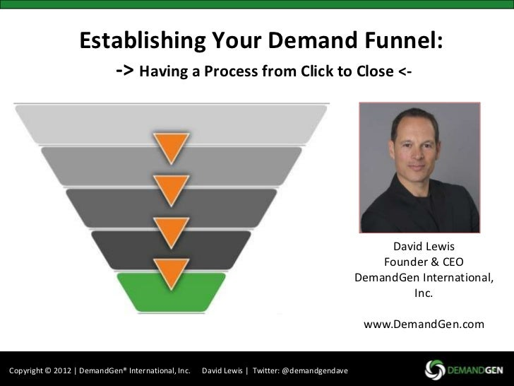 Establishing Your Demand Funnel:                            -> Having a Process from Click to Close <-                    ...