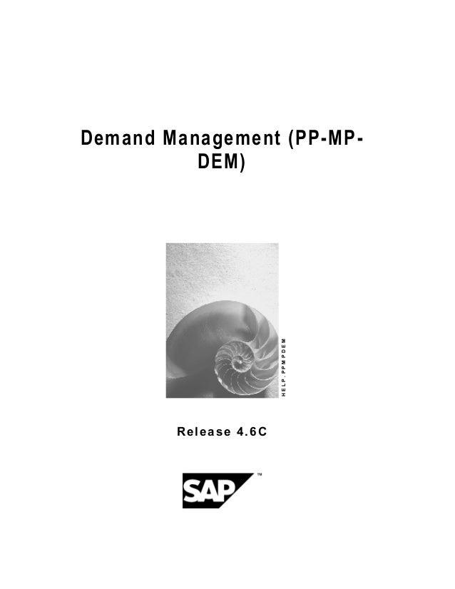 SAP Demand management