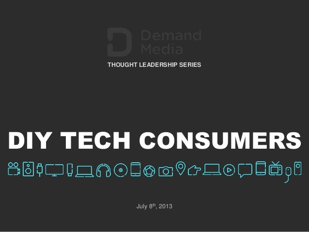 Demand Media Shares New Insights About Tech Consumers