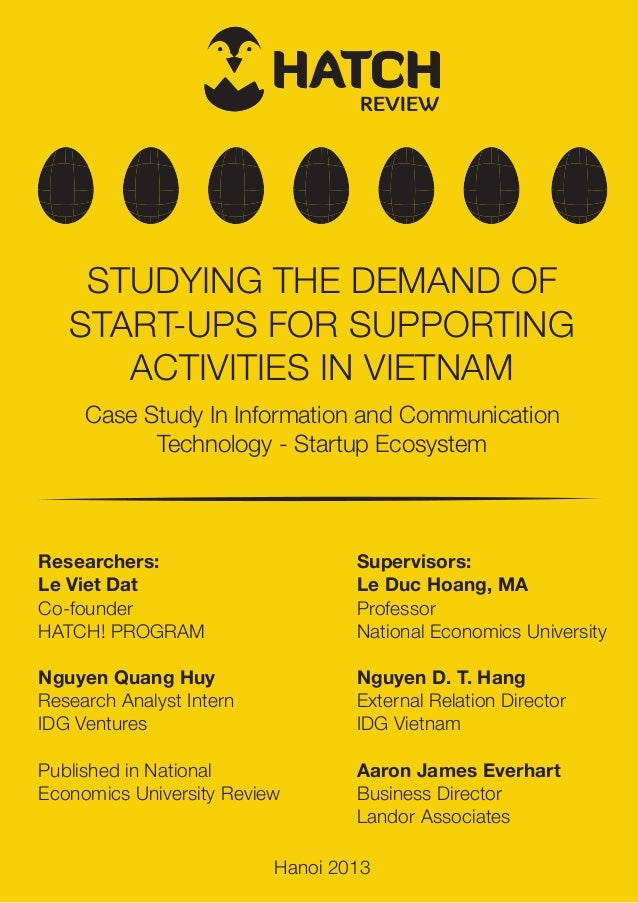 [HATCH! REVIEW] Studying the demand of Start-ups for Supporting Activities in Vietnam.