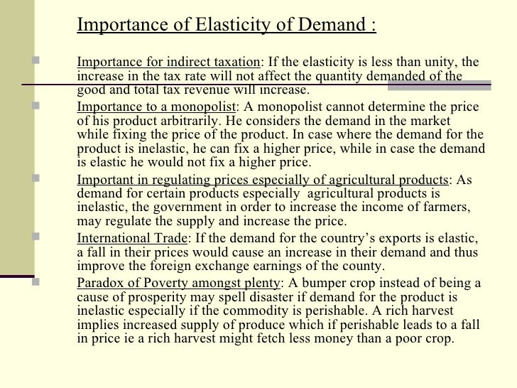 importance of elasticity of supply pdf