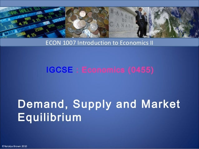 equilibrium price Equilibrium price is a common economics term that refers to the exact price at which market supply equals market demand selling goods and services at the equilibrium price point leads to optimized profit for a business.