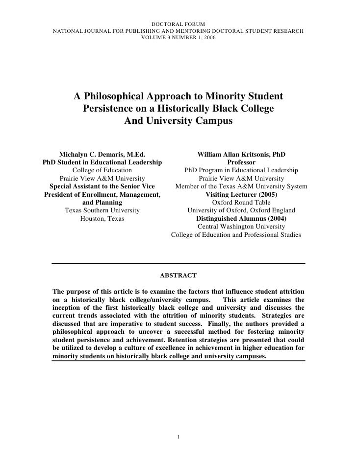 DOCTORAL FORUM   NATIONAL JOURNAL FOR PUBLISHING AND MENTORING DOCTORAL STUDENT RESEARCH                            VOLUME...