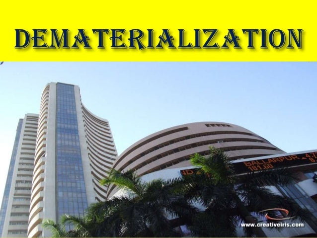 Dematerialisation ppt