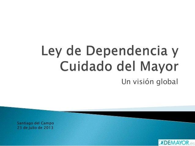 Un visión global Santiago del Campo 23 de Julio de 2013
